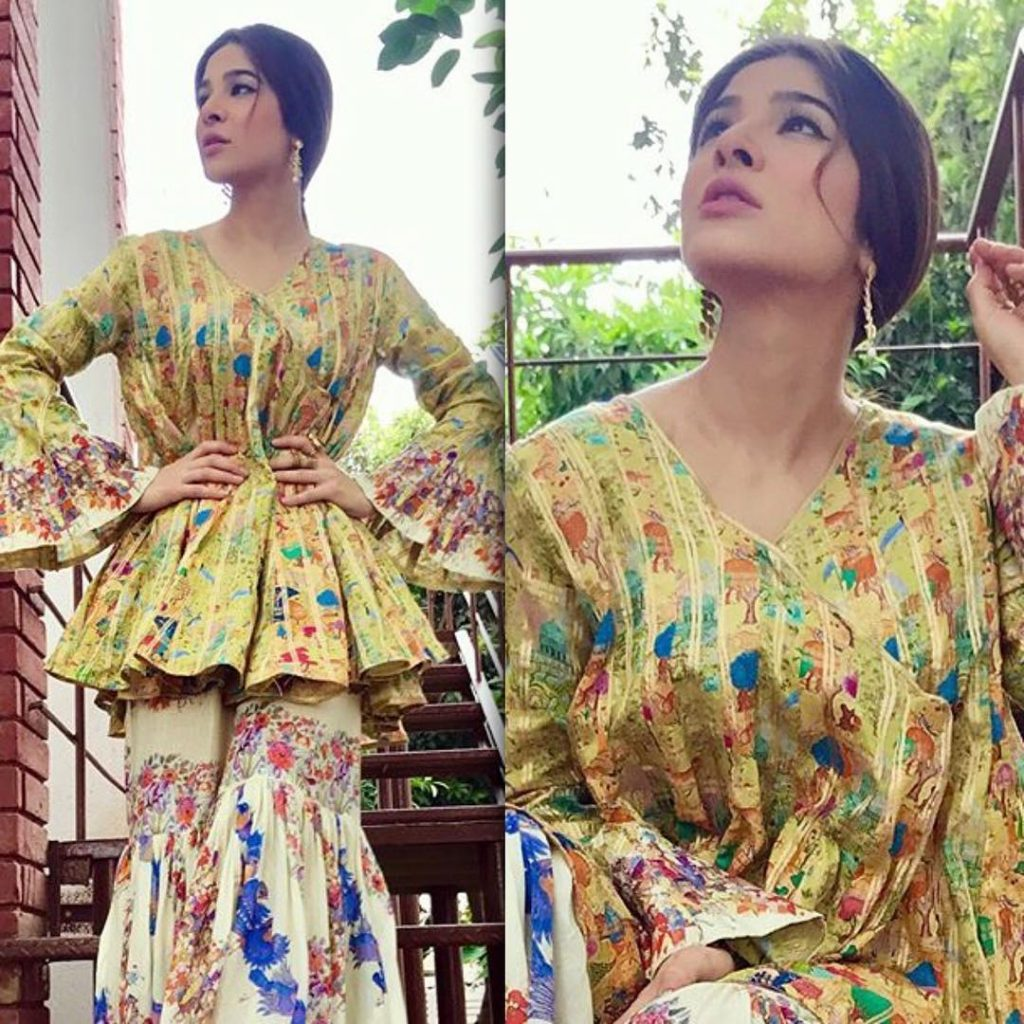 Ayesha Omar wearing stylish outfit from Generation