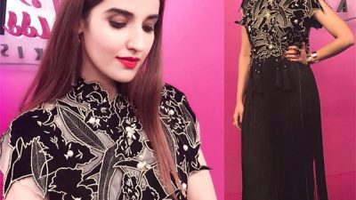 Hareem Farooq wearing Umaima Mustafa on Miss Veet