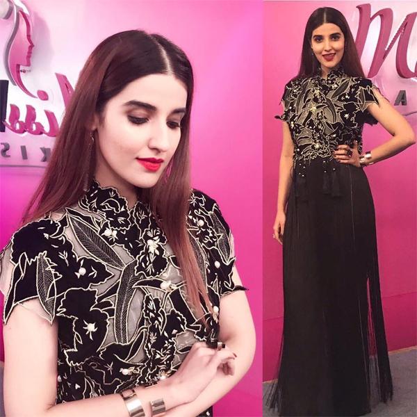 Hareem Farooq wearing Umaima Mustafa on Miss Veet