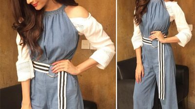 Mawra Hocane wearing stylish Jumpsuit by Mantra