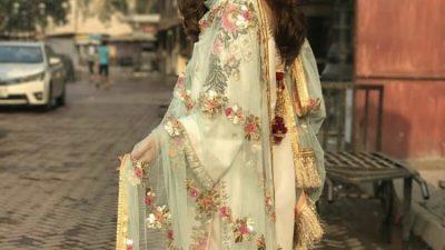 Maya Ali at a nikkah ceremony wearing Mohsin Naveed
