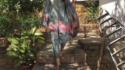 Aiman Khan wearing Nourhan
