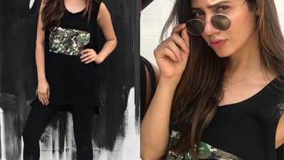 Mahira Khan in casual style at HeF clothing launch