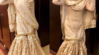 Mehwish Hayat wearing old school Gharara by Mohsin Naveed Ranjha