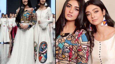 Sara Khan & Noor Khan walks for Mona Imran at PFDC18