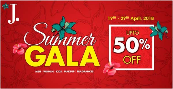 J. offers up to 50% off in Summer Gala Sale