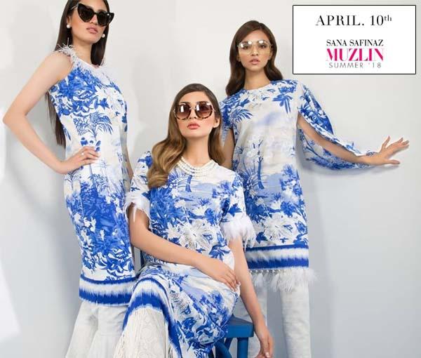 10 vibrant designs of Sana Safinaz Muzlin 2018