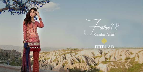 Saadia Asad festive Eid collection by Ittehad