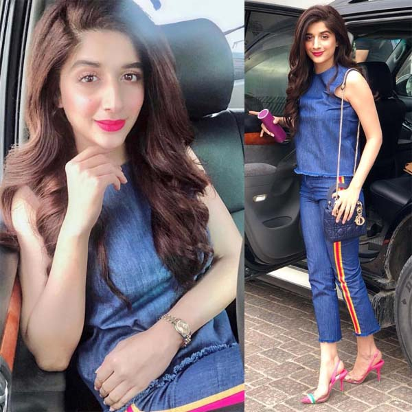 Mawra Hocane rocking denim outfit at JPNA2 trailer launch