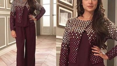 Sarwat Gillani wears Natasha Kamal at JPNA2 video shoot