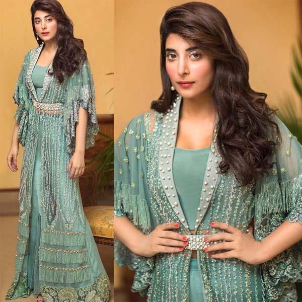 Urwa Hocane wearing Zainab Chottani's luxury outfit