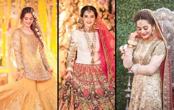 8 dresses Aiman Khan wore on her Wedding functions