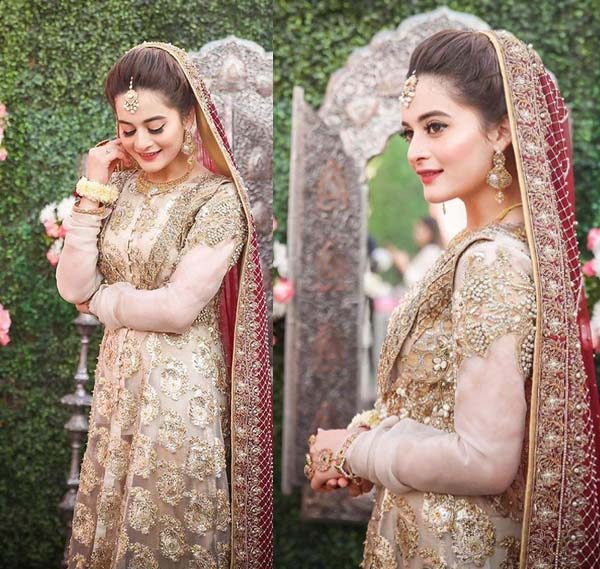Aiman Khan Nikah dress