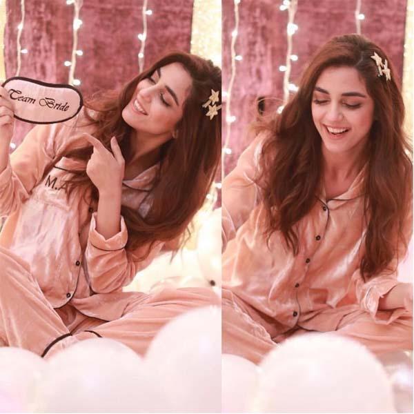 Maya Ali pajama party