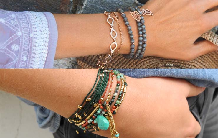 layering your bracelets
