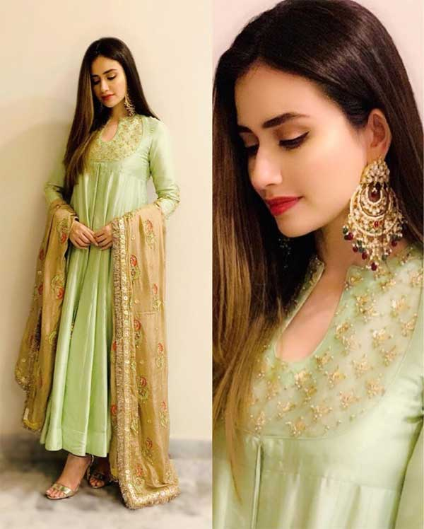 Sana Javed Eid dress