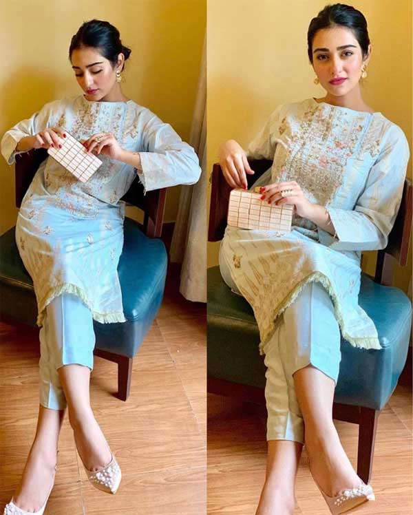 Sarah Khan Eid dress