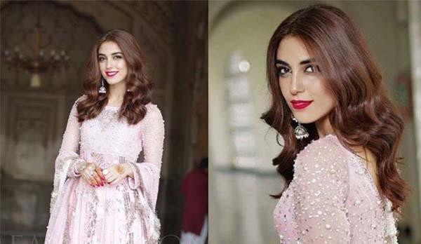 Maya Ali wearing Mohsin Naveed Ranjha at her brother's wedding