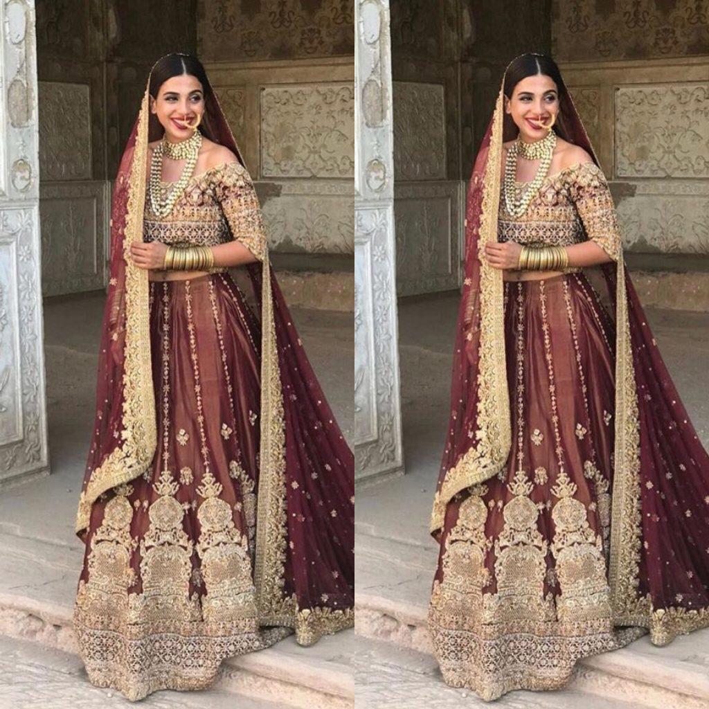 Saira Rizwan bridal collection shoot at Lahore Fort