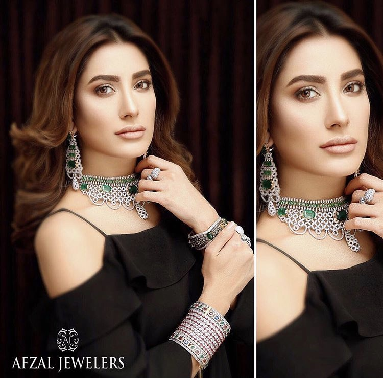 Mehwish Hayat shoots for Afzal Jewellers latest collection