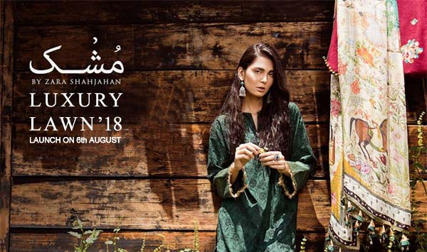 Zara Shahjahan Mushk Luxury Lawn collection 2018