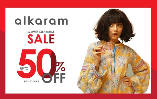 Al Karam summer clearance sale offers up to 50% discount
