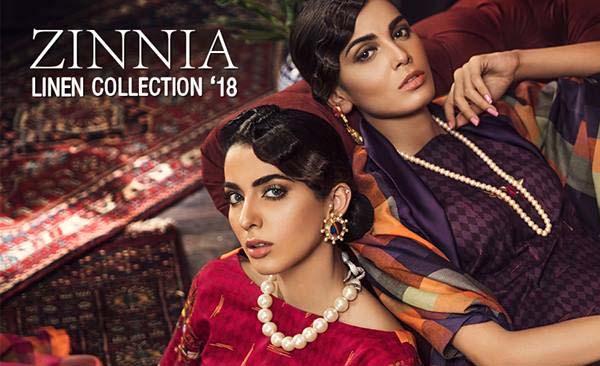 Rang Rasiya Zinnia linen winter collection 2018