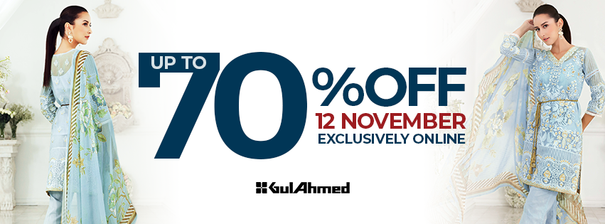 Gul Ahmed up to 70% off in exclusive online sale