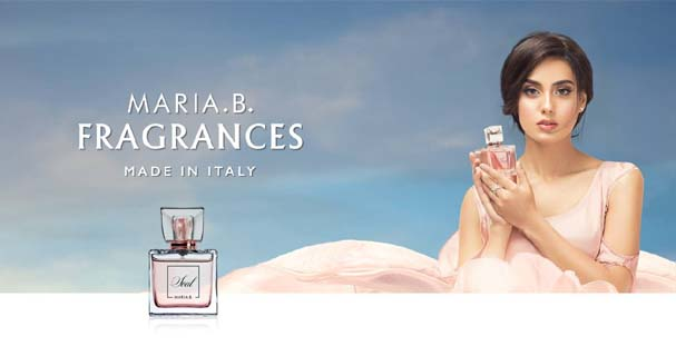 Maria B launched her perfumes imported from Italy