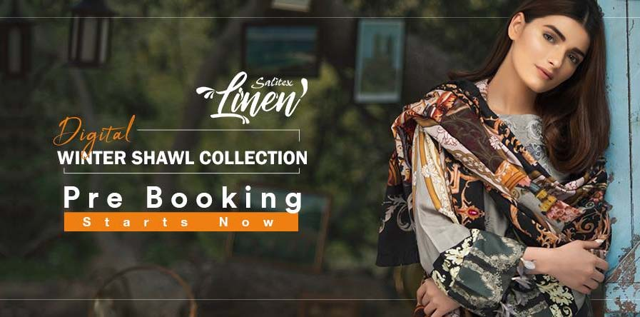 Salitex Linen Digital Winter Shawl collection
