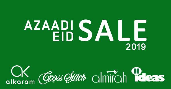 Azaadi & Eid ul Azha Sale on clothing brands in Pakistan