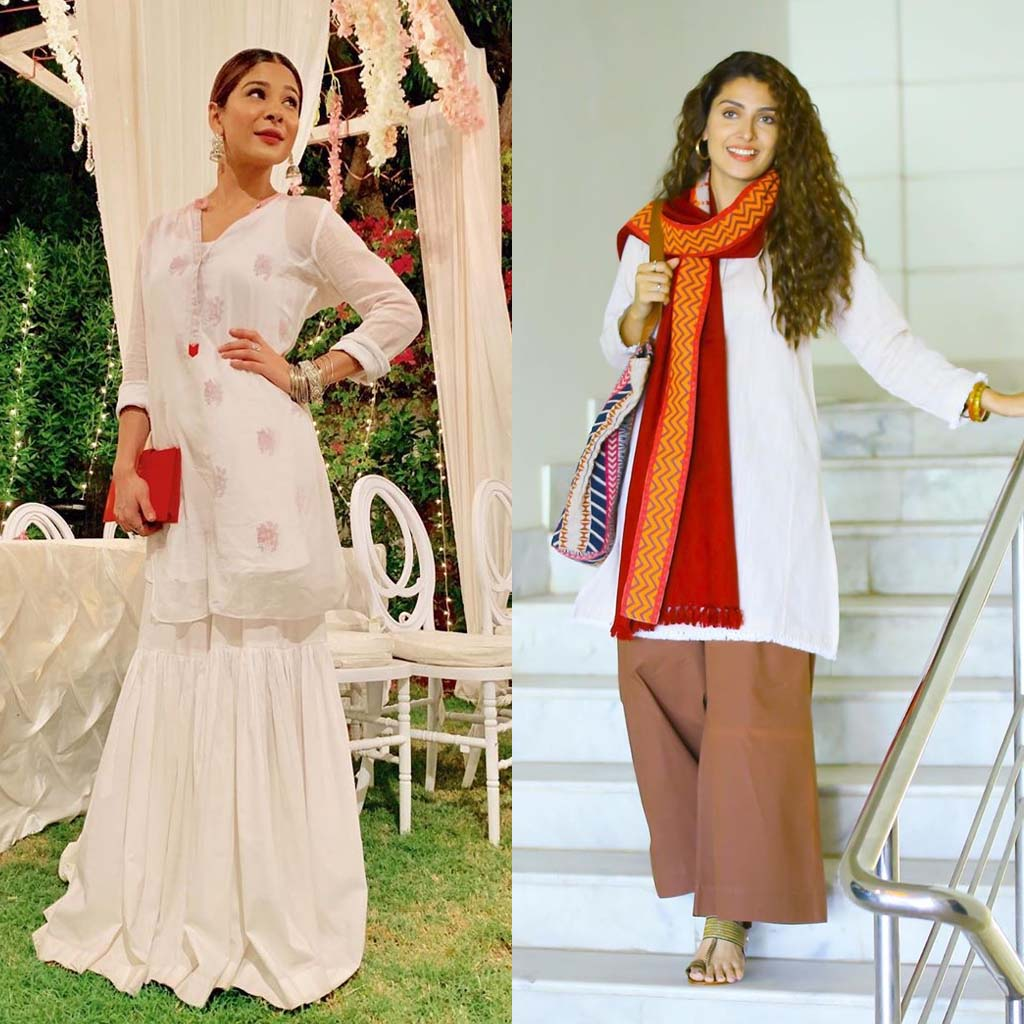 How to slay a simple White Kurti in 5 different styles