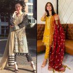Hania Aamir & Iqra Aziz wearing Asim Jofa - Zar Taar collection