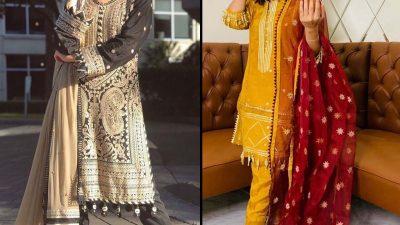 Hania Aamir & Iqra Aziz wearing Asim Jofa's Zar Taar collection