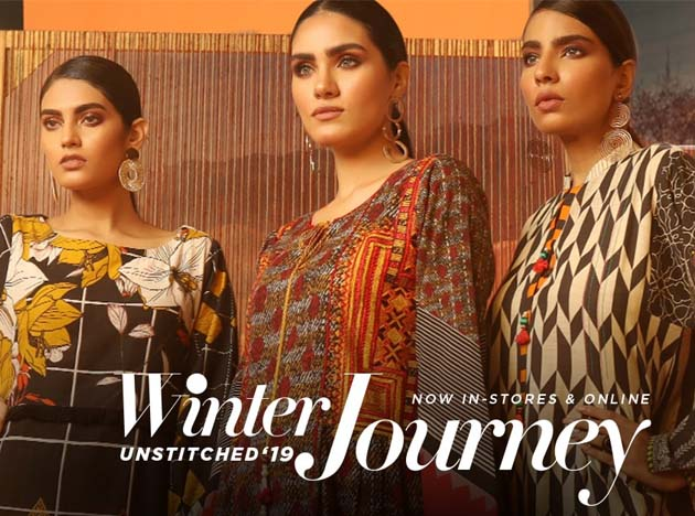 edenrobe Winter Journey – Unstitched collection 2019