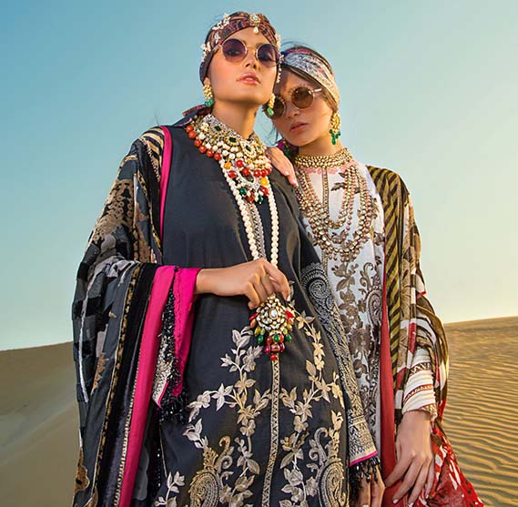 Sana Safinaz winter shawl 2019